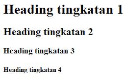 Belajar HTML Bagian 8 : Cara Membuat Heading di HTML