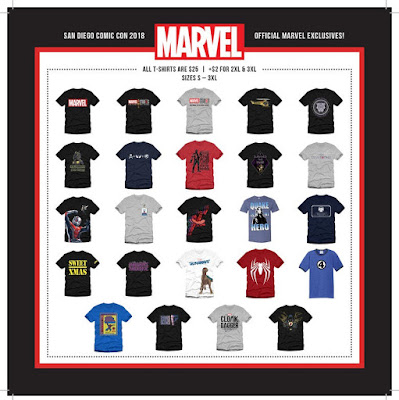 San Diego Comic-Con 2018 Exclusive Marvel Comics T-Shirt Collection