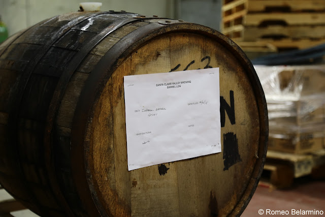 Barrel Aging Imperial Oatmeal Stout Santa Clara Valley Brewing San Jose Breweries