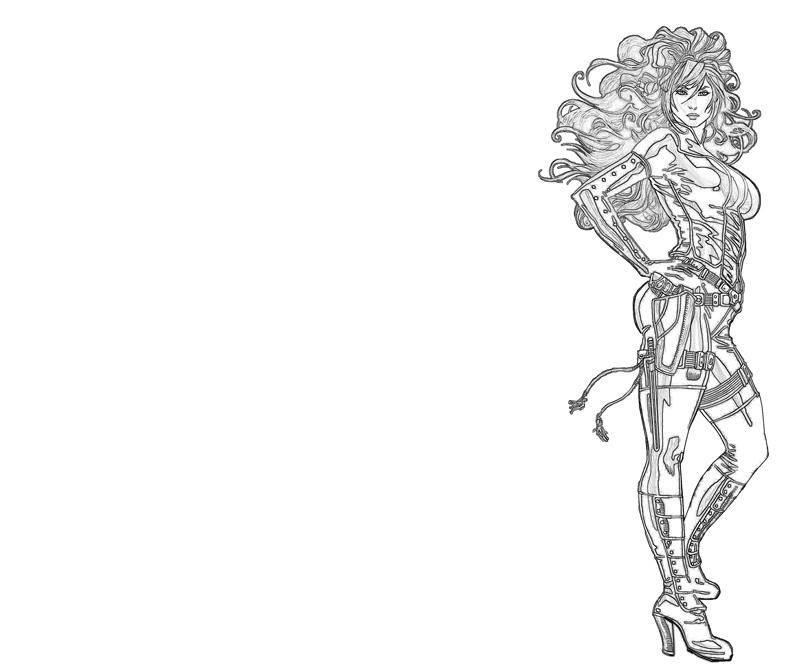 Black widow hero lowland seed for Black widow coloring page