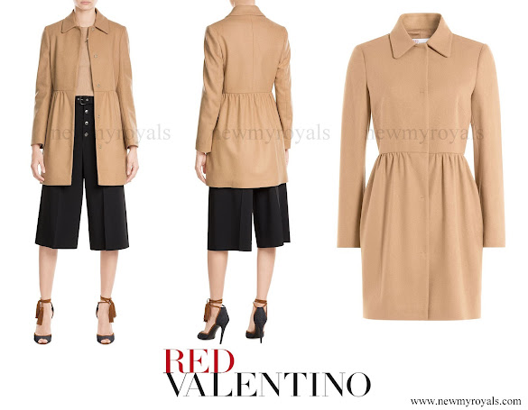 Princess Marie wore R.E.D VALENTINO Wool-Blend Tailored Coat