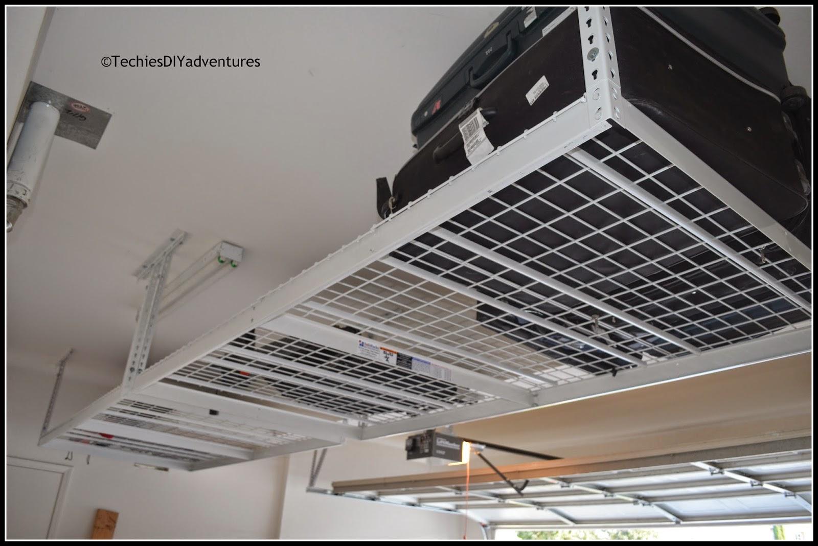 How to install overhead Garage racks