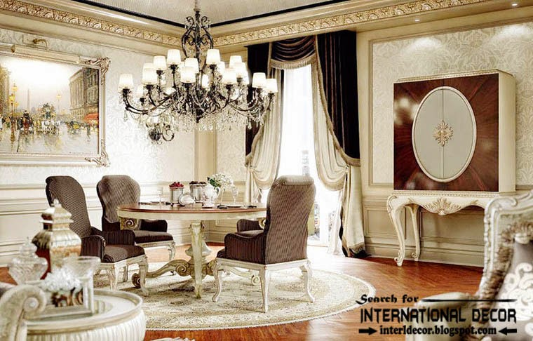 This is luxury classic interior design decor and furniture for Luxury dining room design