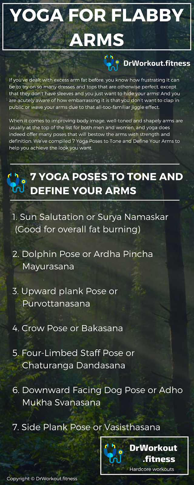 How to lose arm fat with yoga