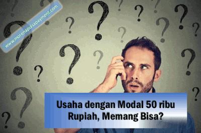 Usaha dengan Modal 50 ribu Rupiah - Morena Pulsa - Morena Reload - Gambar Pulsa Murah