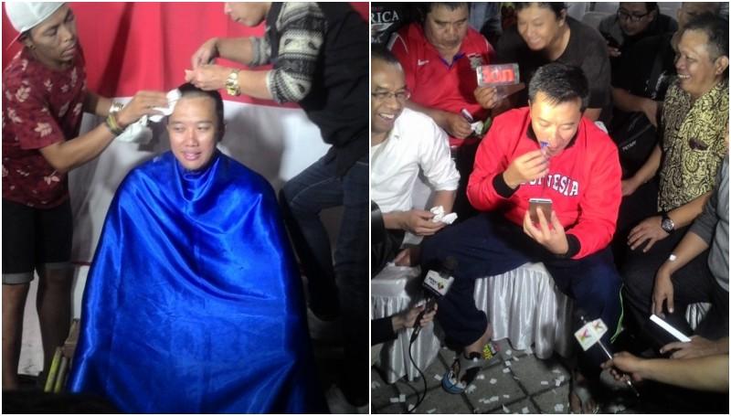Menpora Imam Nahrawi cukur kumis dan rambutnya