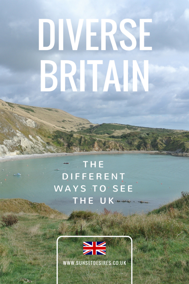 Banner saying Diverse Britain: The Different Ways To See The UK with a picture of a lake and hills