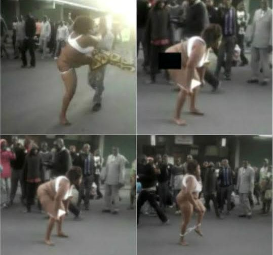 Kenya, couple fight, husband and wife fighting, wife undresses