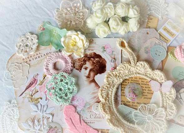 tejer, bordes, puntillas, ribetes, picot, tejer en tela, plástico, papel