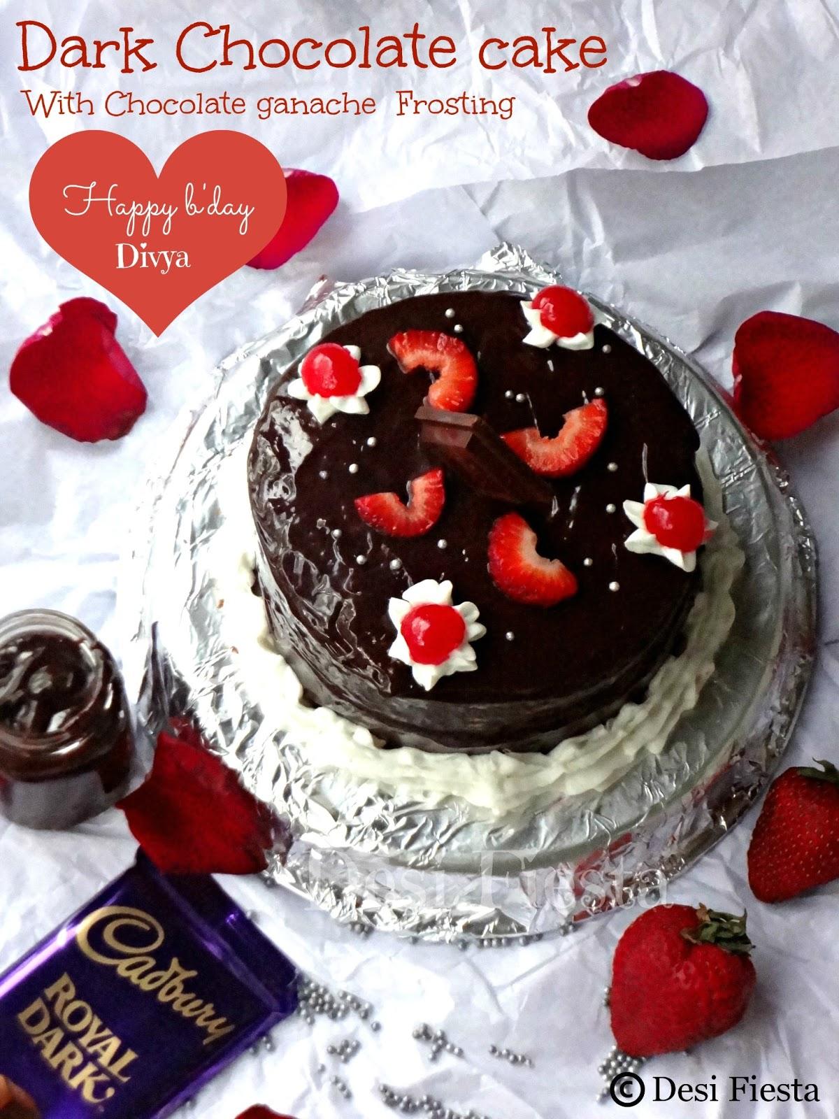Eggless Vanilla Cake With Chocolate Chips