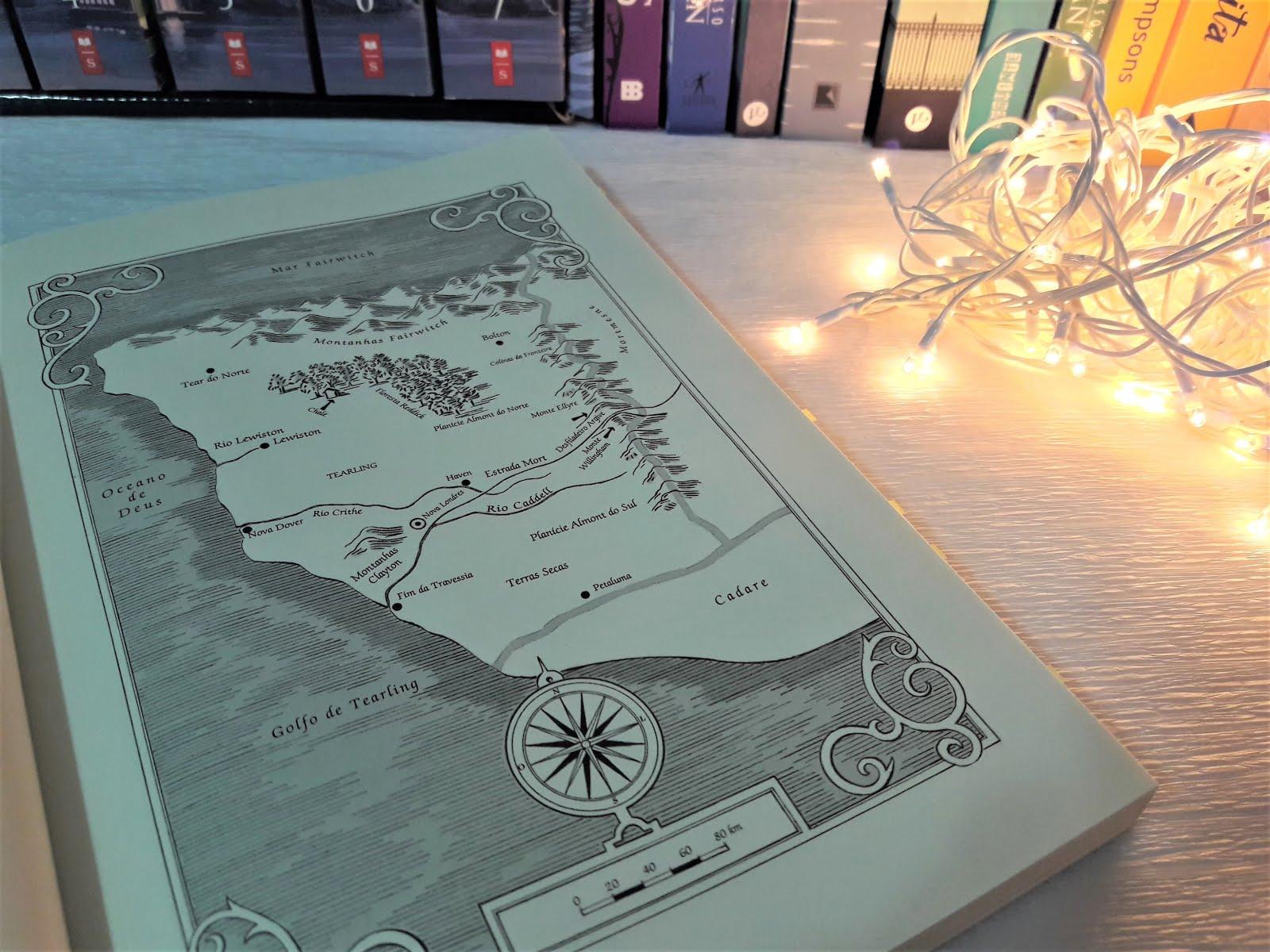 Mapa do livro A Rainha de Tearling