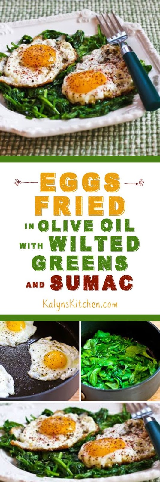 Kalyn's Kitchen®: Eggs Fried in Olive Oil with Wilted Greens and ...