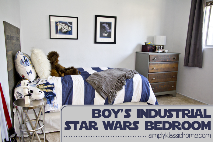 Boy's Industrial/Star Wars Bedroom Makeover Reveal