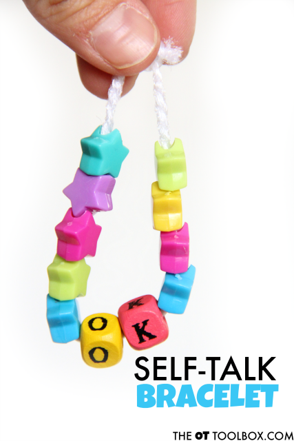 Teach kids positive self talk with these bracelets for helping with attention, self-confidence, self-esteem, and executive functioning skills.