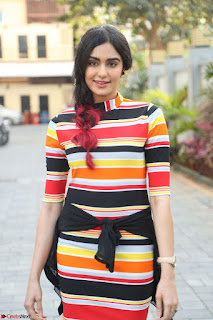 Adha Sharma in a Cute Colorful Jumpsuit Styled By Manasi Aggarwal Promoting movie Commando 2 (27).JPG