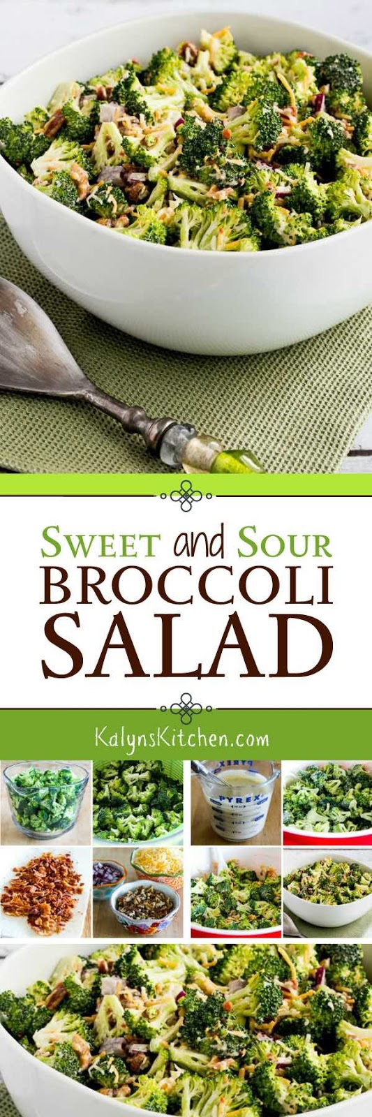Sweet and Sour Broccoli Salad - Kalyn's Kitchen
