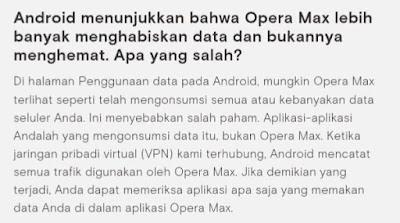 Kelebihan dan kekurangan opera max