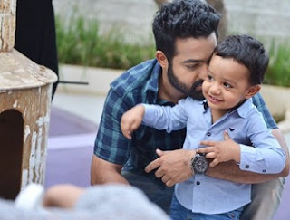 Jr NTR son Abhayram At Janatha Garage Set Photos