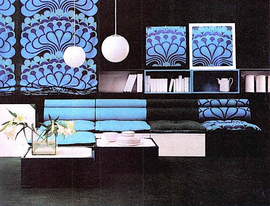 a 1970 blue interior
