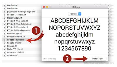 Cara Instal Font di Windows dan Mac Os dengan Mudah