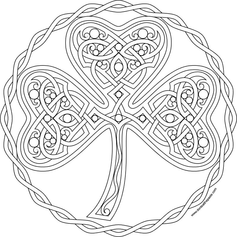 Don\'t Eat the Paste: Shamrock coloring page- 2017