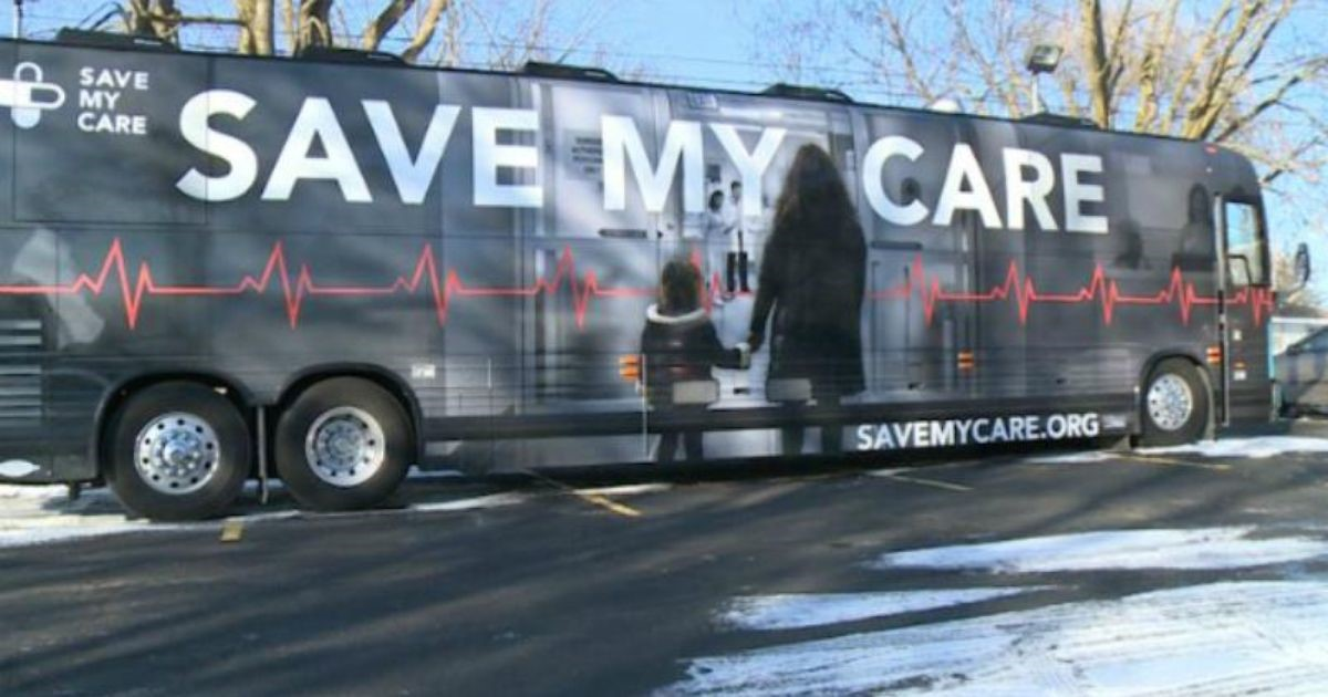 Save My Care bus
