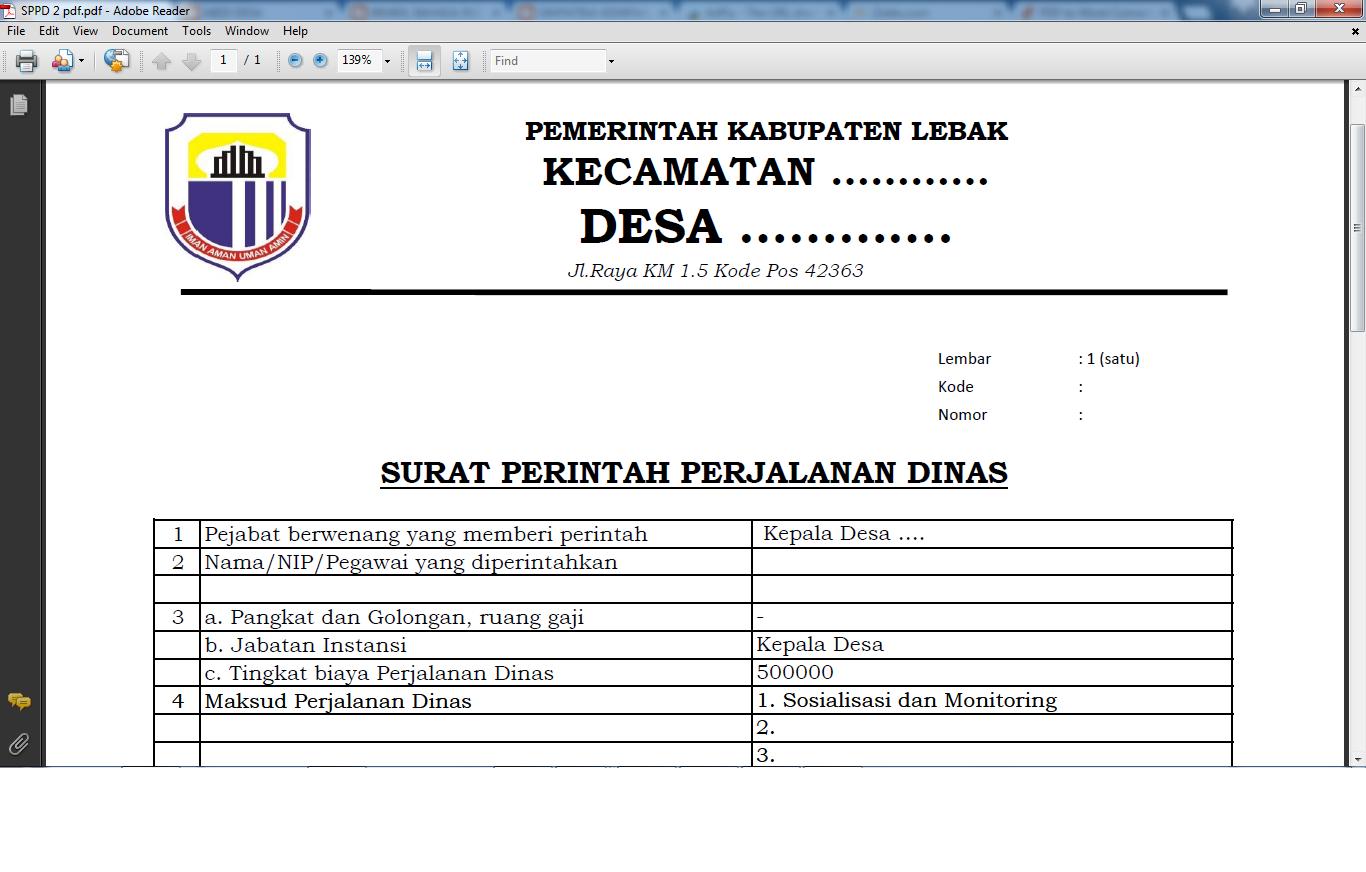 Kumpulan Contoh Surat Administrasi Desa Lengkap Abdi Desa