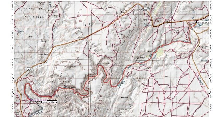 San Juan River Utah Map.Red Rock Adventures San Juan River Prep