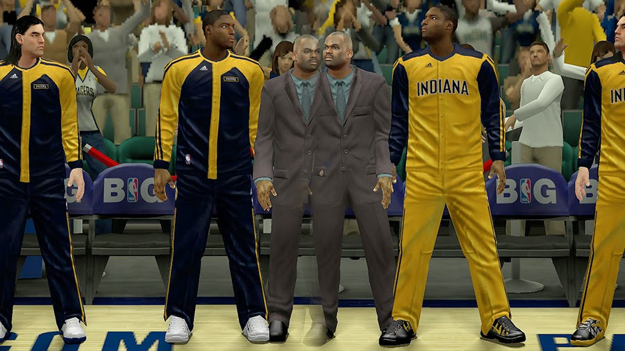 NBA 2K14 Pacers Bench Uniform Patch