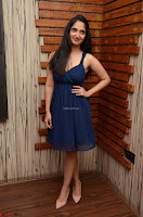 Radhika Mehrotra in a Deep neck Sleeveless Blue Dress at Mirchi Music Awards South 2017 ~  Exclusive Celebrities Galleries 055.jpg
