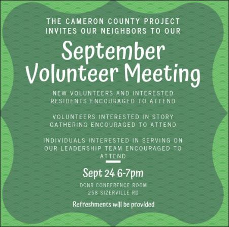 9-24 CCP September Volunteer Meeting
