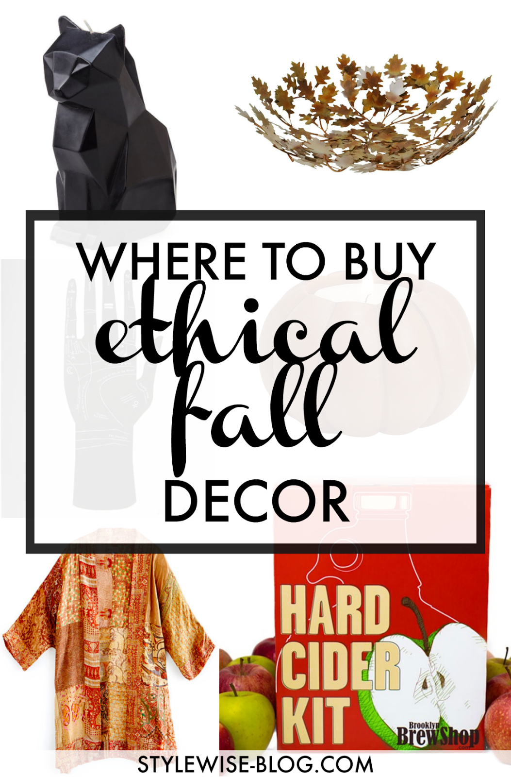 ethical home decor for halloween and fall