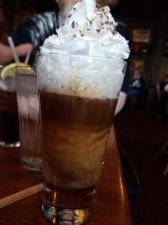 #atozchallenge x Cracker Barrel Goo Goo Cluster drink
