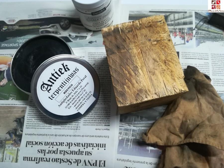 taco de madera con hilorama