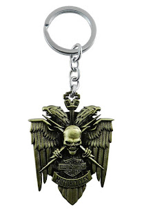 Skull Eagle Bird Wings Collectible Unisex Metal Keychain
