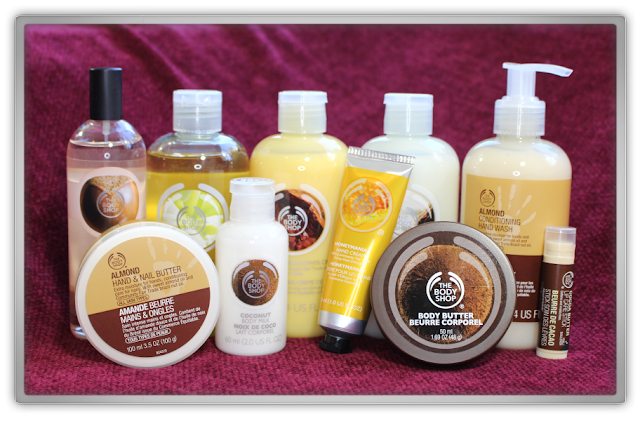 The Body Shop Haul Review cacao moringa coconut shea bodycare almond lip hand butter honey blog beauty blogger