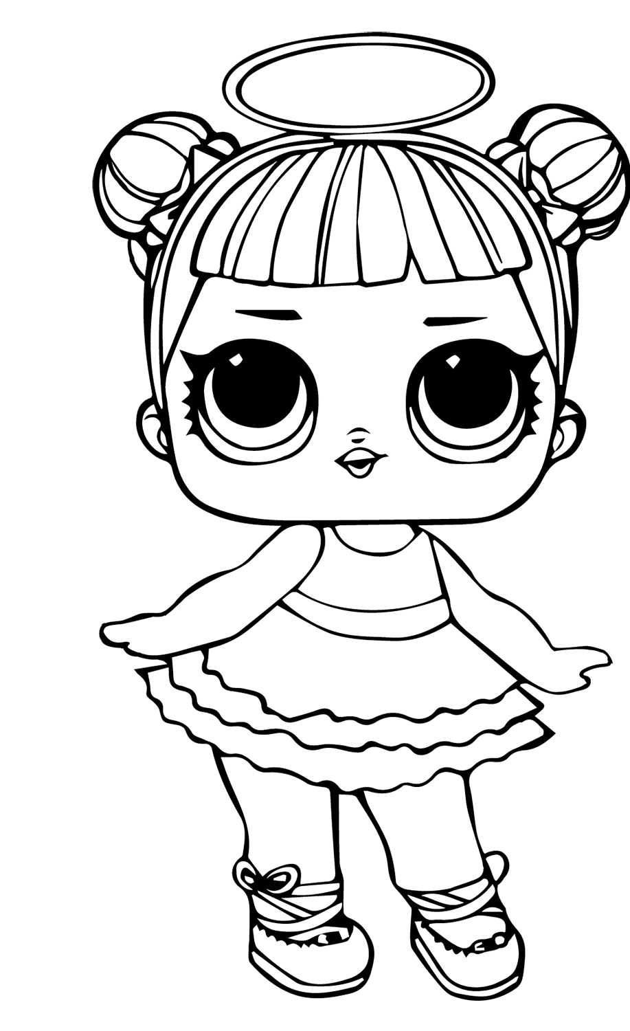 Little Lids Siobhan: LOL Doll Colouring Pages