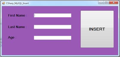 c# database insert