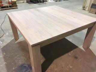 renovatie eiken tafel