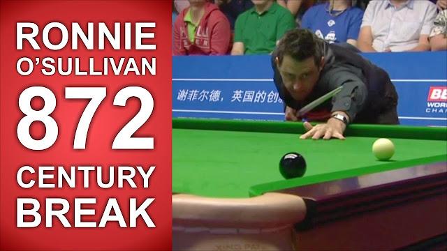 pertandingan snooker terbaik tembakan century break