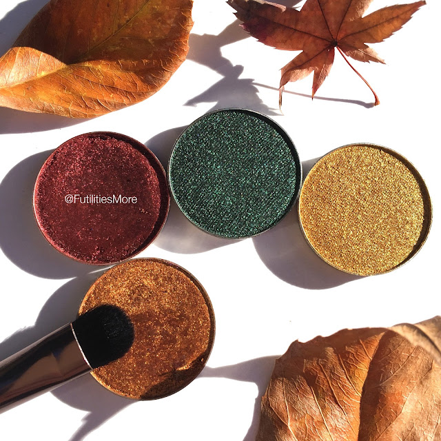 Makeup geek quad idea for fall with foiled eyeshadows, legend, showtime, epic, fortune teller, futilitiesmore, futilitiesandmore