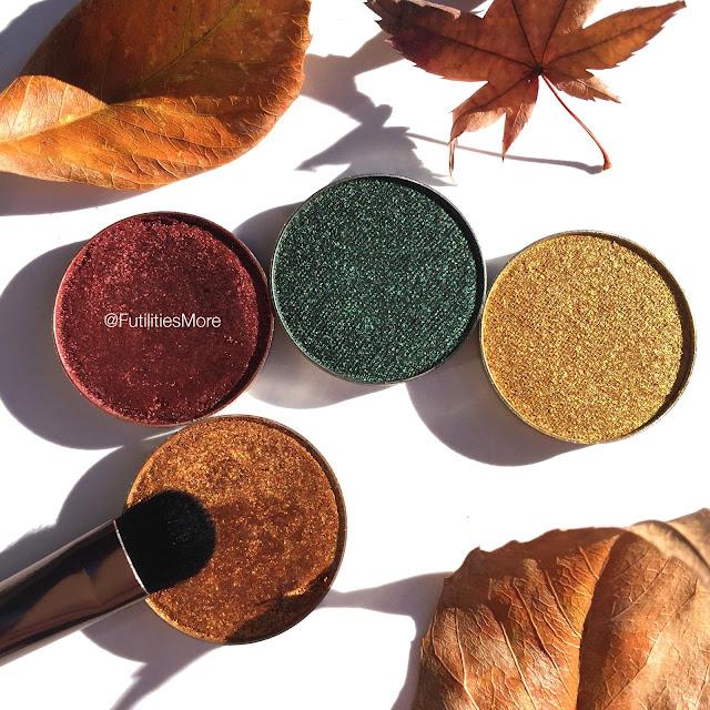 Makeup geek quad idea for fall with foiled eyeshadows, legend, showtime, epic, fortune teller, futilitiesmore, futilitiesandmore