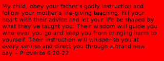 Proverbs 6:20-22 mothers day bible verses