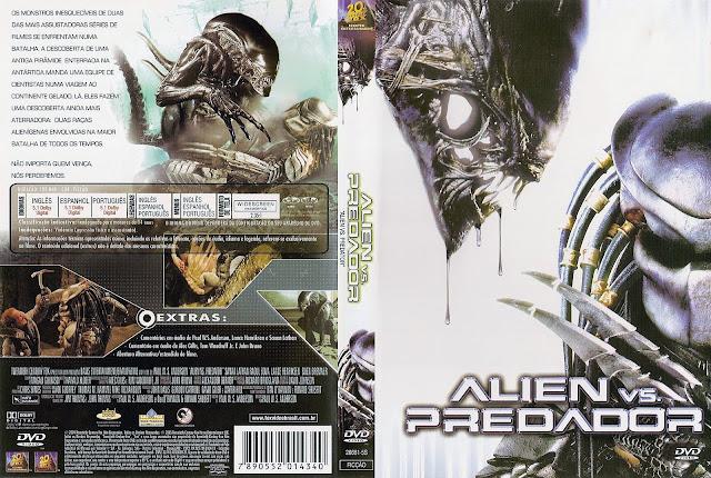 Capa DVD Alien versus Predador