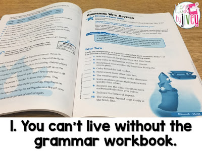 If you can't live without the grammar workbook, mentor sentences aren't right for you.