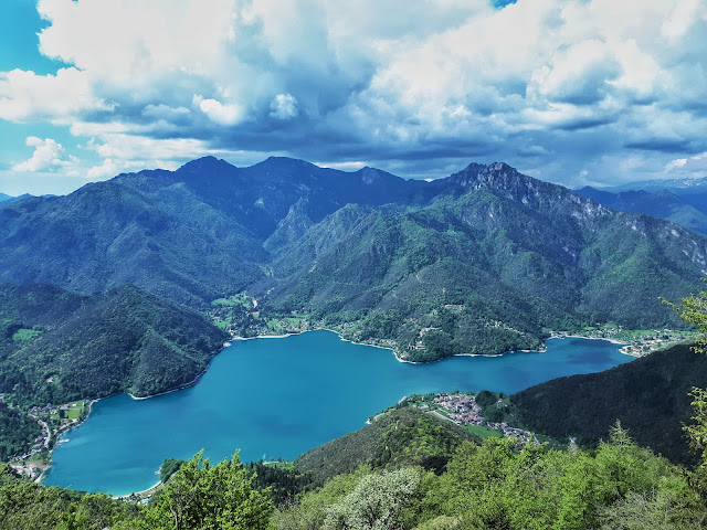 Lago di Ledro aka Ledro Lake from the hiking trail to Dromae fields