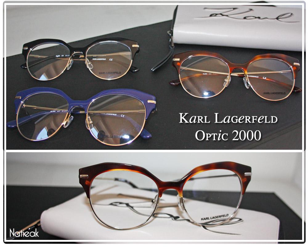 lunettes de vue rétro de Karl Lagerfeld pour Optic2000