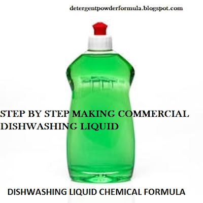 dishwashing liquid chemical formula