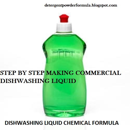 Dishwashing Liquid Chemical Formula | Recipes | Step By Step Making Commercial Dishwashing Liquid