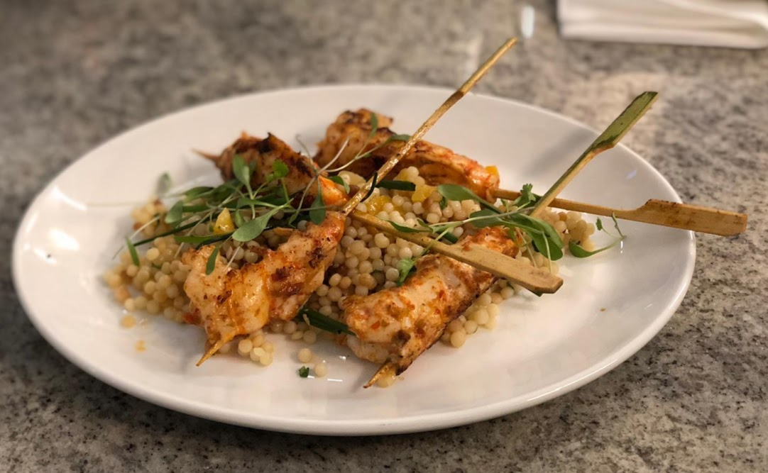 Fish and Chips with Kids at Trenchers, Spanish City - A Review - prawn skewer starter
